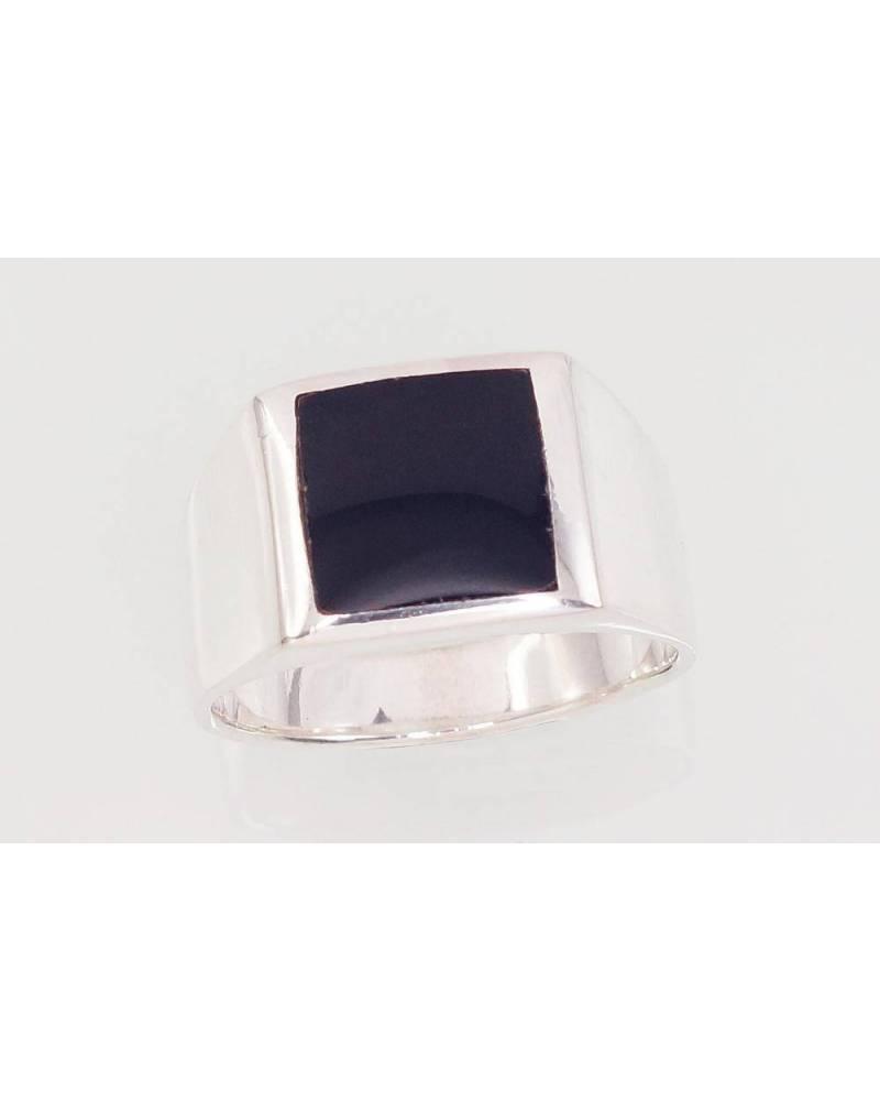 Sidabrinis žiedas vyrams2101575_ON, Sidabras925, Oniksas 0