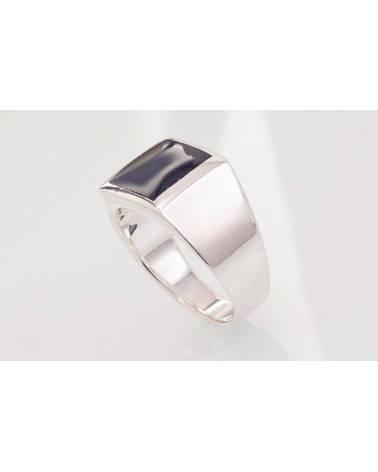 Sidabrinis žiedas vyrams2101575_ON, Sidabras925, Oniksas 1