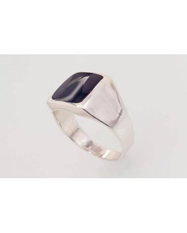 Sidabrinis žiedas vyrams2101576_ON, Sidabras925, Oniksas 1