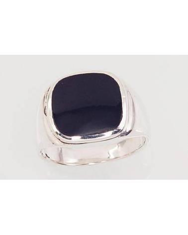 Sidabrinis žiedas vyrams(POX-BK)_ON, Sidabras925, oksidas (padengti), Oniksas 0