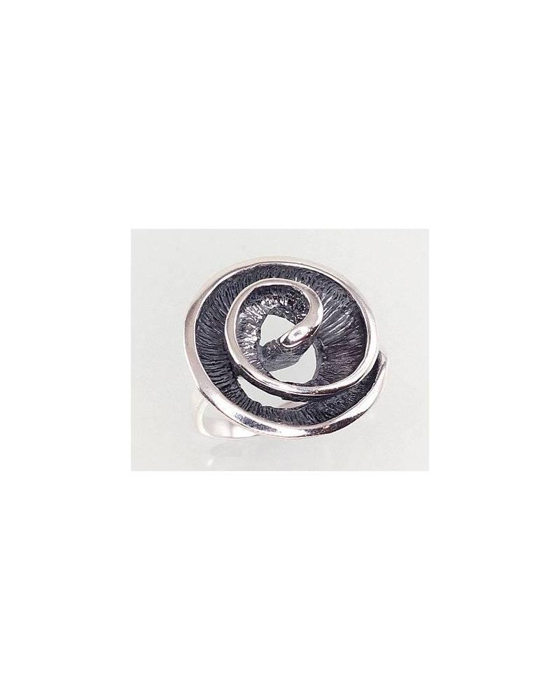 Sidabrinis žiedas(POX-BK), Sidabras925, oksidas (padengti)0