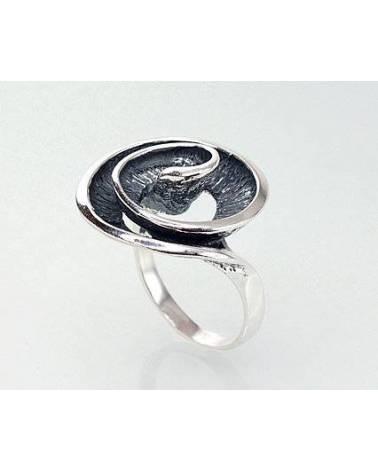 Sidabrinis žiedas(POX-BK), Sidabras925, oksidas (padengti)1