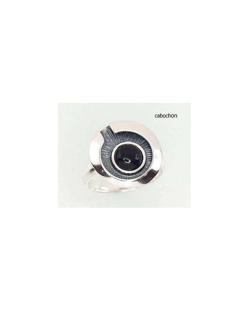 Sidabrinis žiedas(POX-BK)_ON-2, Sidabras925, oksidas (padengti),  oniksas 0