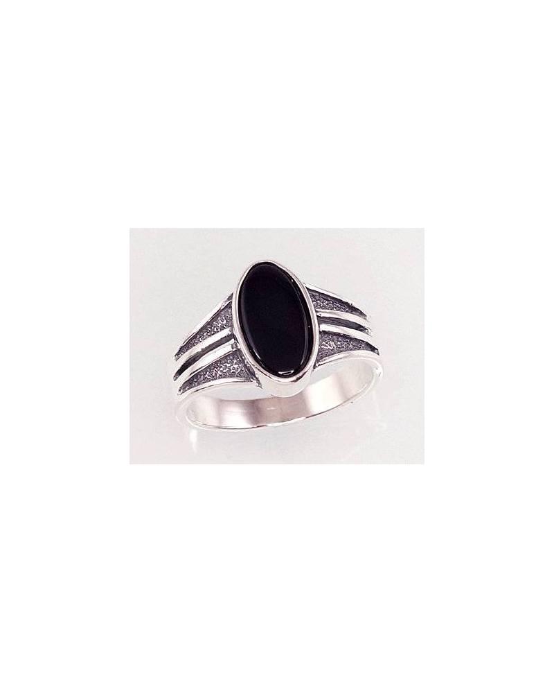Sidabrinis žiedas(POX-BK)_ON, Sidabras925, oksidas (padengti), Oniksas 0