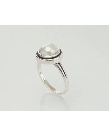 Sidabrinis žiedas(POX-BK)_PE, Sidabras925, oksidas (padengti), Perlai 1