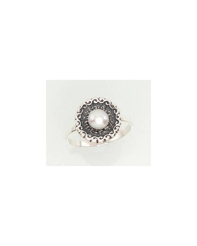 Sidabrinis žiedas(POX-BK)_PE, Sidabras925, oksidas (padengti), Perlai 0