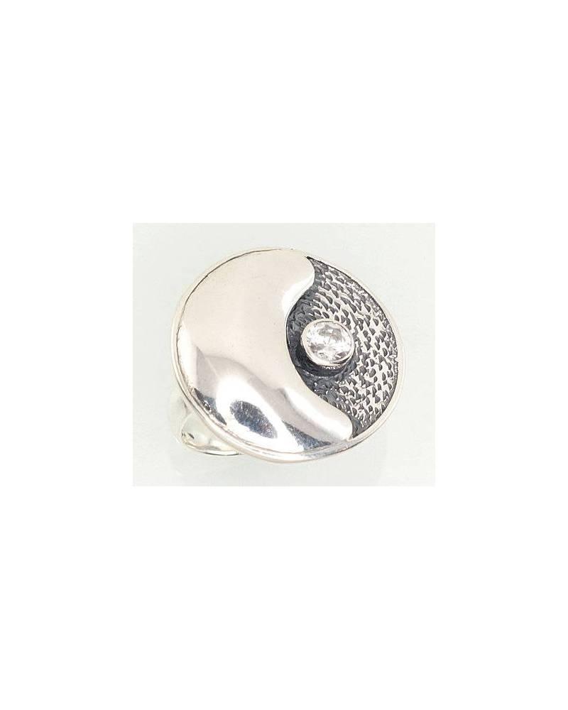 Sidabrinis žiedas(POX-BK)_CZ, Sidabras925, oksidas (padengti), Cirkonai 0