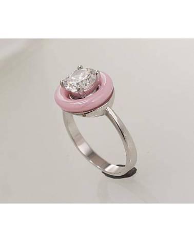 Sidabrinis žiedas(PRH-GR)_CZ+CM-PI, Sidabras925, rodis (padengti), Cirkonai , juvelyrinė keramika1