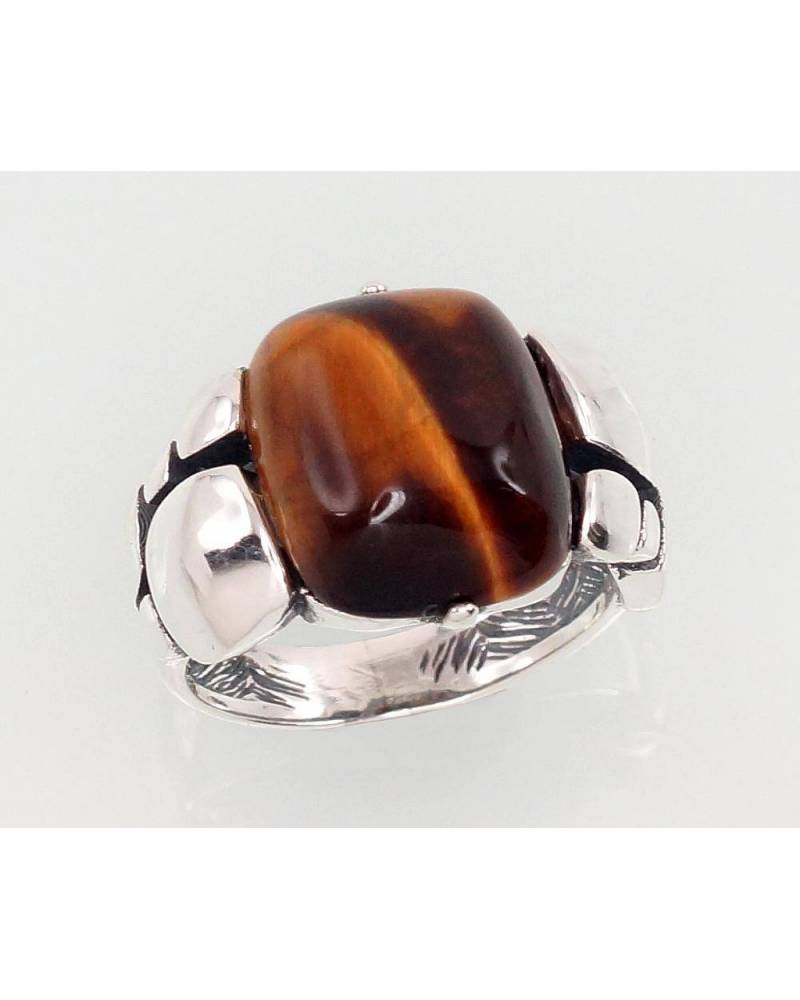 Sidabrinis žiedas(POX-BK)_TE, Sidabras925, oksidas (padengti), Tigro akis 0