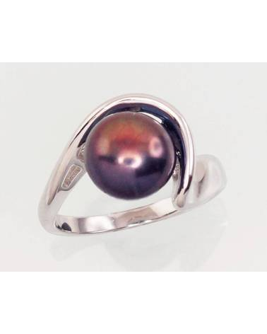 Sidabrinis žiedas(PRH-GR)_PE-BK, Sidabras925, rodis (padengti),  perlai 0