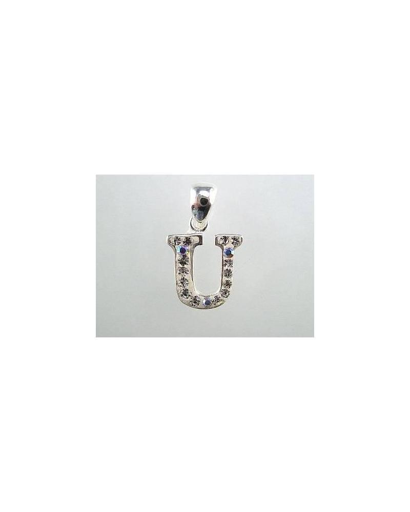 Sidabrinis pakabukas – raidė2300037_SV, Sidabras925, Swarovski kristalai 0