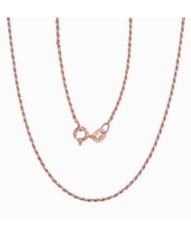 Sidabrinė grandinėlė(PAU-R) (Grandinėlės nėrimas: Rope), Sidabras925, raudonas auksas (padeng0