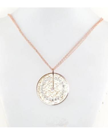 Sidabrinis vėrinys(PAU-R)_SV, Sidabras925, raudonas auksas (padengti), Swarovski kristalai 0