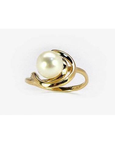 Auksinis žiedas(AU-Y)_PE, Geltonas auksas585, Perlai 0