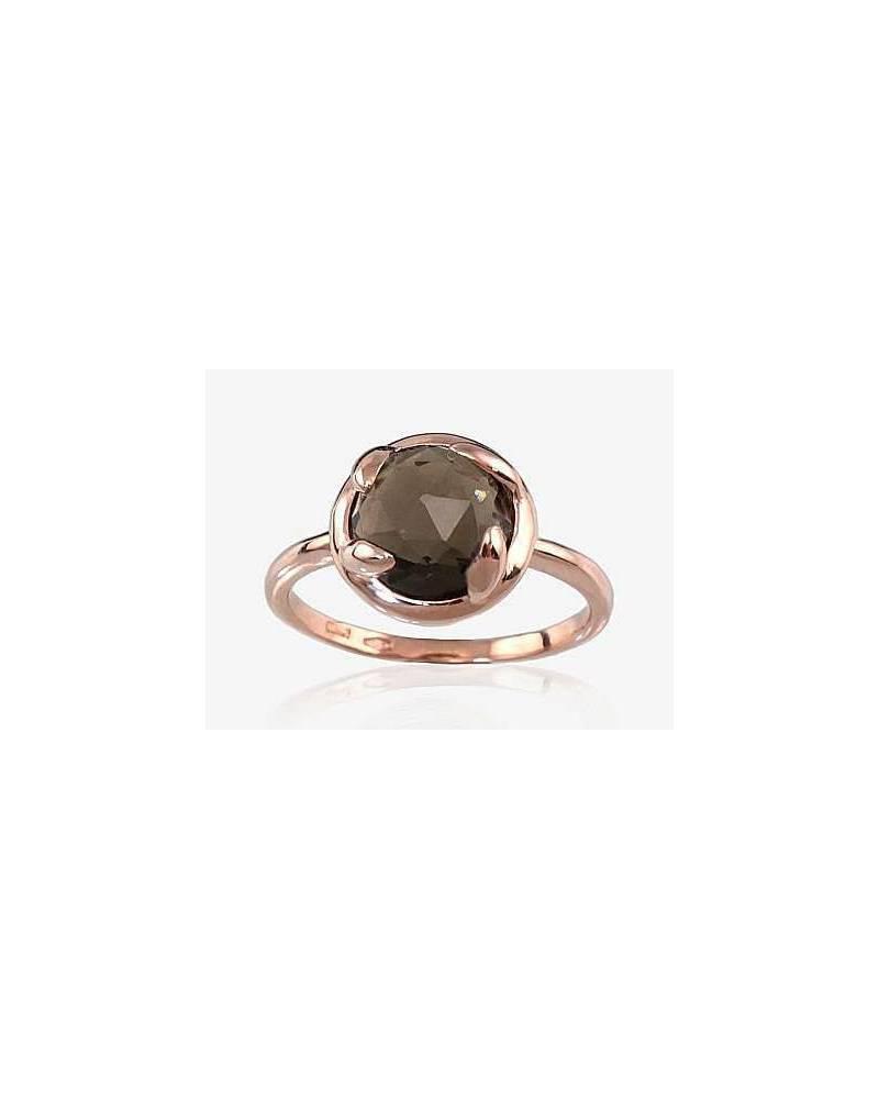 Auksinis žiedas(AU-R)_KZSM, Raudonas auksas585, Dulsvas kvarcas 0