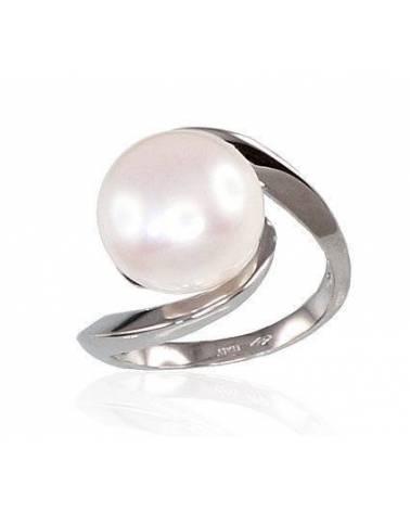 Auksinis žiedas(AU-W)_PE, Baltas auksas585, Perlai 0