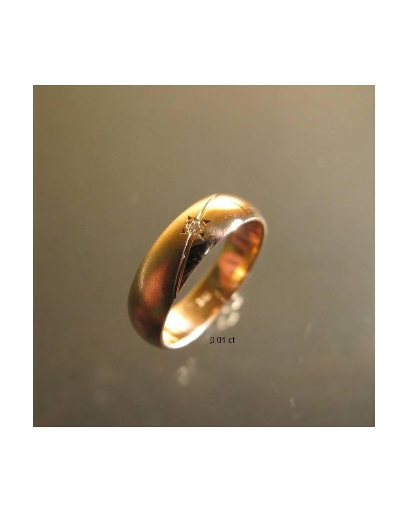 Vestuviniai žiedai su briliantu