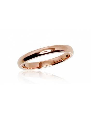 Auksinis sutuoktuvių žiedas(AU-R) (Žiedas storis 2.5mm), Raudonas auksas5850