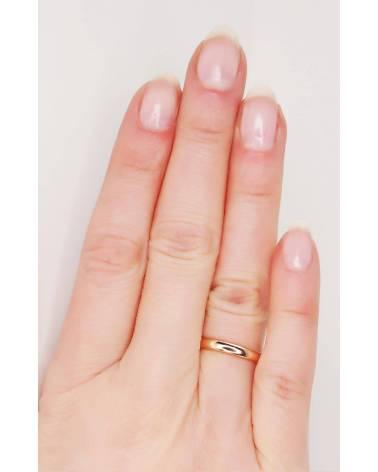 Auksinis sutuoktuvių žiedas(AU-R) (Žiedas storis 2.5mm), Raudonas auksas5852