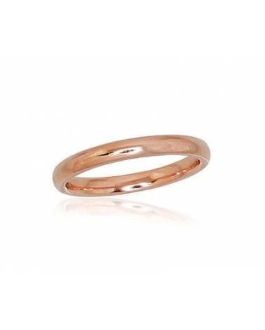 Auksinis sutuoktuvių žiedas(AU-R) (Comfort fit, Žiedas storis 2.5mm), Raudonas auksas5850