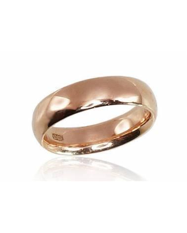 Auksinis sutuoktuvių žiedas(AU-R) (Žiedas storis 5mm , palengvintas), Raudonas auksas5850