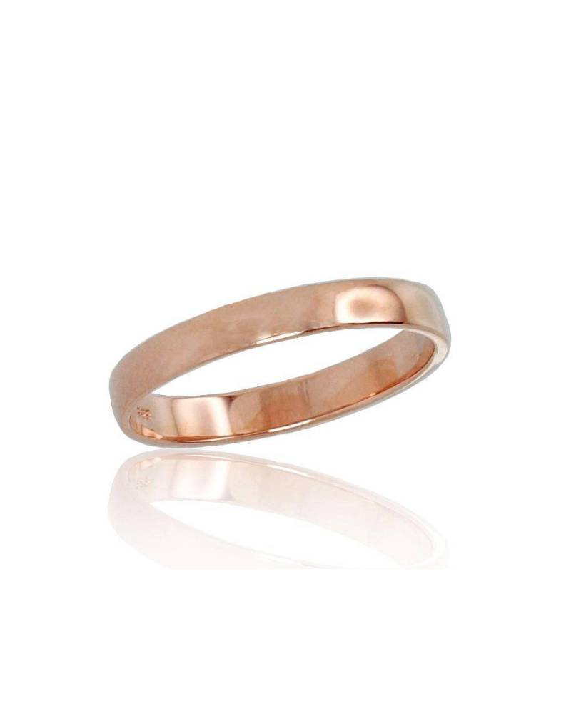 Auksinis sutuoktuvių žiedas(AU-R) (Žiedas storis 3mm), Raudonas auksas5850