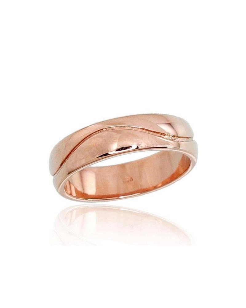 Auksinis sutuoktuvių žiedas(AU-R) (Žiedas storis 5mm), Raudonas auksas5850