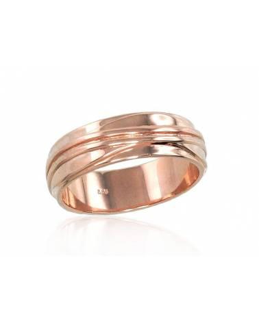 Auksinis sutuoktuvių žiedas(AU-R) (Žiedas storis 6mm), Raudonas auksas5850