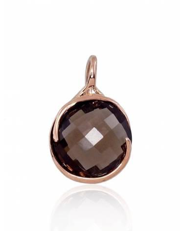 Auksinis pakabukas(AU-R)_KZSM, Raudonas auksas585, Dulsvas kvarcas 0