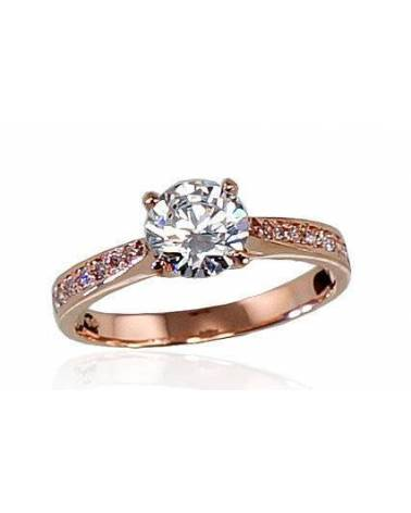 Sužadėtuvių žiedas(AU-R)_CZ, Raudonas auksas585, Cirkonai 0