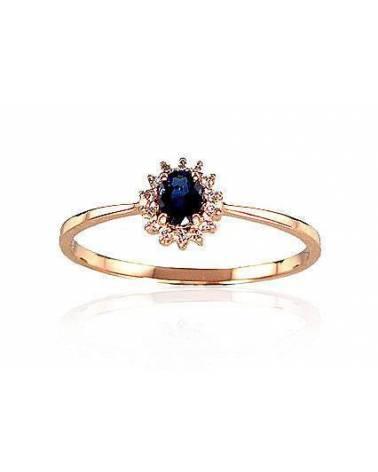 Sužadėtuvių žiedas(Au-R+PRh-W)_DI+SA, Raudonas Auksas585, rodis (padengti) , Briliantai , Safyr0
