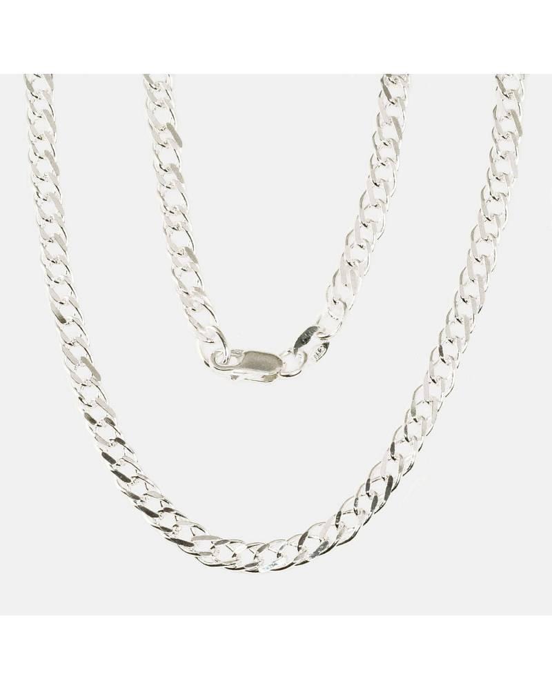 Sidabrinė grandinėlė Rombo 4 mm ,briaunų apdirbimas deimantu0