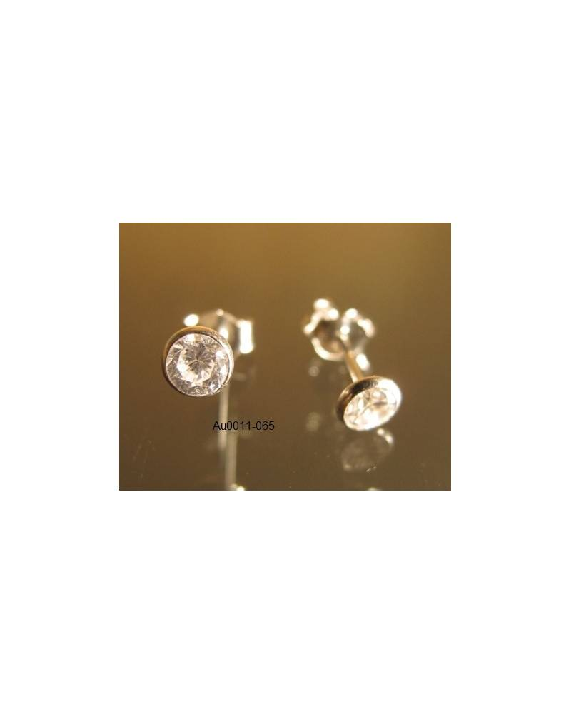 Balto aukso auskarai