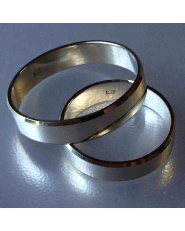 Balto aukso vestuviniai žiedai