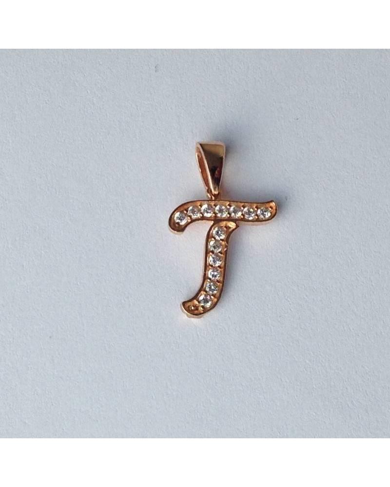 """Auksinis pakabukas vardo raidė  """"T"""""""
