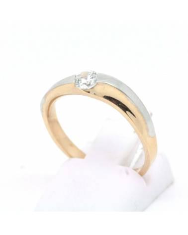 Radono balto aukso sužadėtuvių žiedas