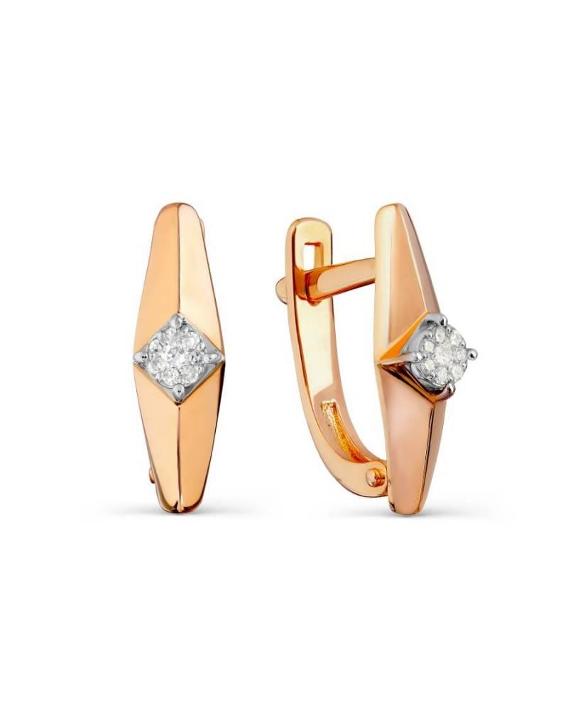 Auskarai su deimantais