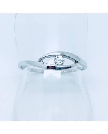 Balto aukso sužadėtuvių žiedas