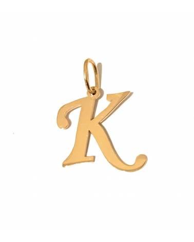 """Auksinis pakabukas vardo raidė """"K"""""""