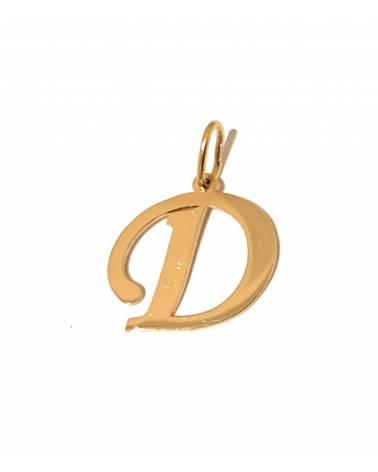 """Auksinis pakabukas vardo raidė """"D"""""""