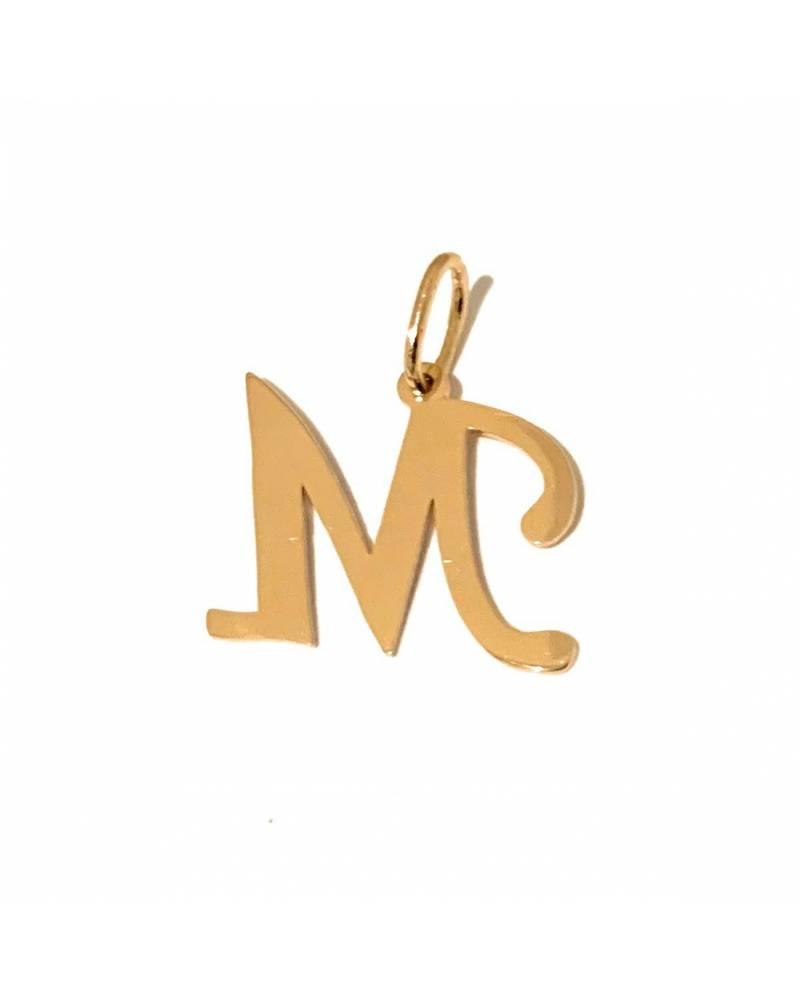 """Auksinis pakabukas vardo raidė  """"M"""""""