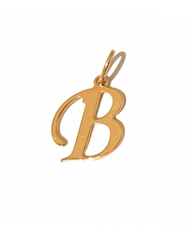 """Auksinis pakabukas vardo raidė  """"B"""""""