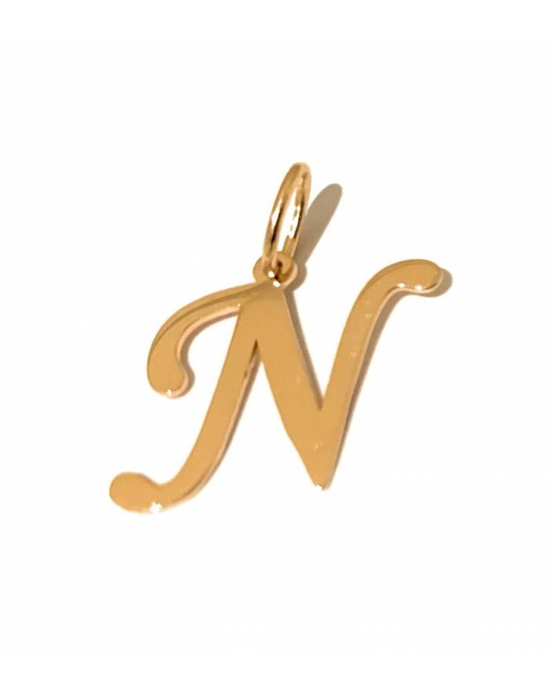 """Auksinis pakabukas vardo raidė  """"N"""""""