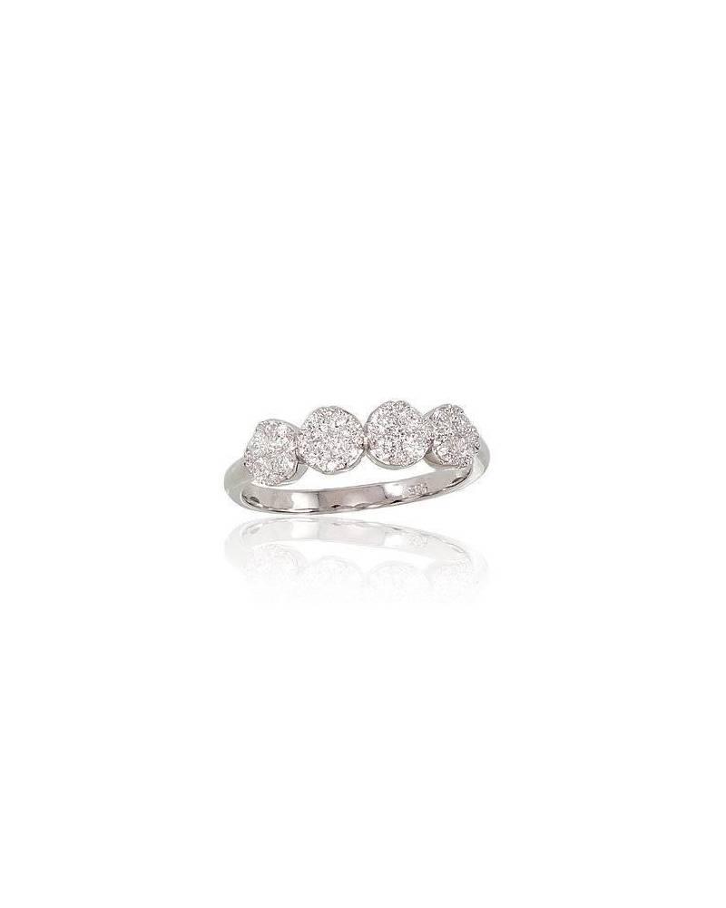 Auksinis žiedas, Baltas auksas585,  0