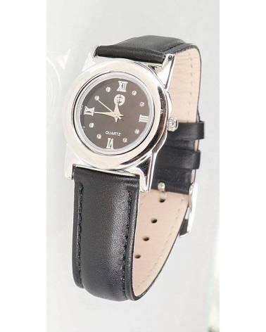 Sidabrinis laikrodis , Sidabras925, rodis (padengti), Cirkonai , plastikiniai 0