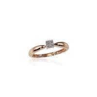 Dar vienas nuostabaus grožio raudono aukso sužadėtuvių žiedas su deimantu. Dydis 17. Svoris 1,77 g. Deimantas - 0.03ct. Praba 585. Kaina 212€ http://bit.ly/33MDcJN #auksas #ejuvelyrika #ziedas #deimantai  #raudonasauksas
