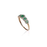 Savaitės naujiena. Raudono aukso žiedas su deimantais ir smaragdais. Dydis 16. Deimantai (0,097Ct), Smaragdas (0,19Ct). Kaina 359eur. Nemokamas pristatymas  http://bit.ly/2NrpiGb